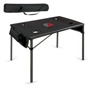 NBA-Portland-Trail-Blazers-Portable-Soft-Top-Travel-Table-Black-0-0